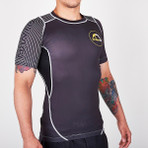 "MANTO ""HYBRID"" RASH GUARD Black"