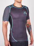 "MANTO ""HYBRID"" RASH GUARD Black/Blue"