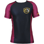 "Rashguard ""Emblem"" Purple - IBJJF Approved"