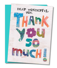 """Dear Wonderful You"" Thank You Card"