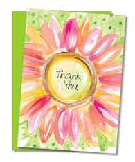 """Pink Daisy"" Thank You Card"