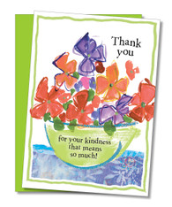 """Bowl of Flowers"" Thank You Card"