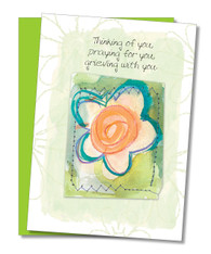 """Grieving With You"" Sympathy Card"