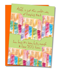 """Age Is Keeping Track"" Birthday Card"