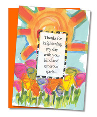 """Brightening My Day"" Thank You Card"