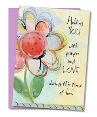 """Prayers And Love"" Sympathy Card"