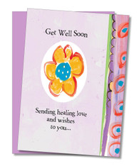 """Sending Healing Love"" Get Well Card"