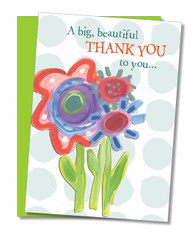 """Big Beautiful Thank You"" Thank You Card"