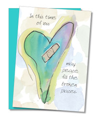 """Peace Fills Broken Places"" Sympathy Card"