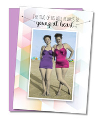 """Always Be Young At Heart"" Birthday Card"