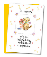 """Beloved Dog"" Sympathy Card"