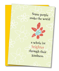 """World Whole Lot Brighter"" Thank You Card"