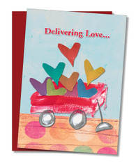 """Delivering Love to my Valentine"" Valentine's Card"