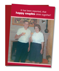 """Happy Couples Drink"" Valentine's Card"