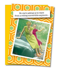 """""""Rolling Convertible"""" Birthday Card"""