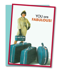 """Baggage and All"" Birthday Card"