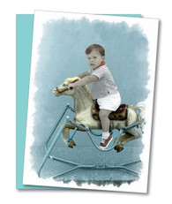 """Back in the Saddle"" Get Well Card"