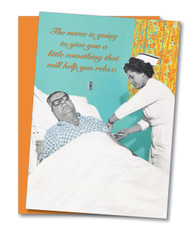 """Nurse to Help Relax"" Get Well Card"