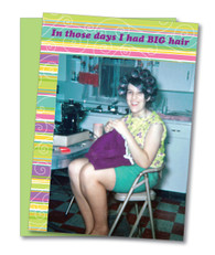 """Big Hair"" Birthday Card"