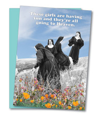 """Girls Go To Heaven"" Birthday Card"