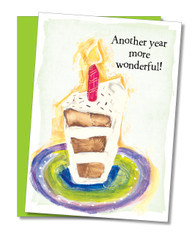 """Another year more wonderful"" Birthday Card"