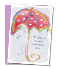 """Life does not promise storm-free days"" Encouragement Card"