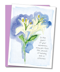 """Love is eternal"" Sympathy Card"