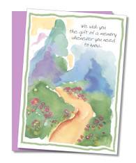 """The gift of a memory"" Sympathy Card"