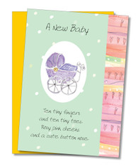 """A new baby"" Congratulations Card"
