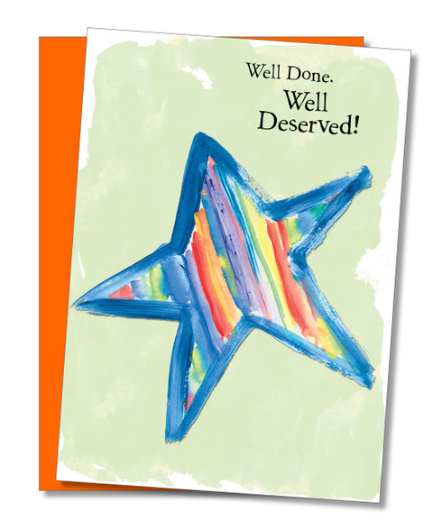 """Well Done! Well Deserved!"" Congratulations Card"