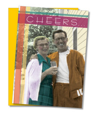"""Cheers to a great couple"" Anniversary Card"