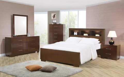 C200719 - Sydney I Light Cappuccino Solid Wood Storage Bed with Ambient Lighting in the Head Board and Below the Rails & C200719 - Sydney I Light Cappuccino Solid Wood Storage Bed with ...