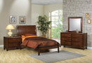 C400281 - Monrovia Rich Deep Walnut Solid Wood Platform Bed