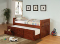 C300105 - Felix Cherry Solid Wood Captin Bed with Trundle