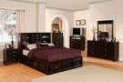 FA7059 - Yorkville Espresso Solid Wood Multi Drawer  Platform Bed
