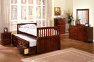 FA7031 - Montana II Cherry Solid Wood Mission Trundle Bed