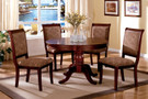 FA3224RT - Saint Nicholas Cherry Solid Wood Round 5 Piece Dining Set