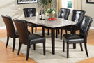 FA3866T - Marion I Genuine Marble Top 7 Piece Dining Set