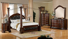 fa7271 - Mandalay Brown Cherry Solid Wood Post Canopy Bed