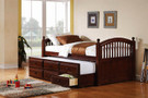 c400381 - Gopal Cappuccino Solid Wood Storage Day Bed