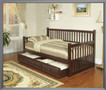 k4041 - Electra Cappuccino Solid Wood Day Bed With Storage Trundle