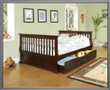 k4043 - Elena Cappuccino Solid Wood Day Bed With Storage Trundle
