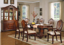ac11830 - Dannie Cherry Solid Wood Double Pedestal Standard Height Seven Piece Dining Set