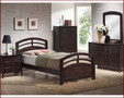 ac14980 - San Carlos Dark Walnut Solid Wood Mission Style Bed