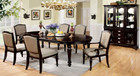 FA3970T - RYDER DARK WALNUT 7 PIECE ELEGANT & LARGE DINING SET