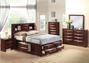 AC21590F - Ireland Espresso Solid Wood  Contemporary Bed