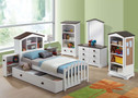 AC30220T - Docila White Solid Wood Contemporary Bed