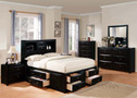AC14125T - Manhattan Black Contemporary Bed
