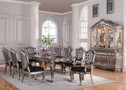 AC60547 - Chantelle Antique Platinum 9 Piece Formal Dining Set
