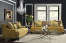 FA2201 - Viscontti Gold Fabric Sofa and Love Seat